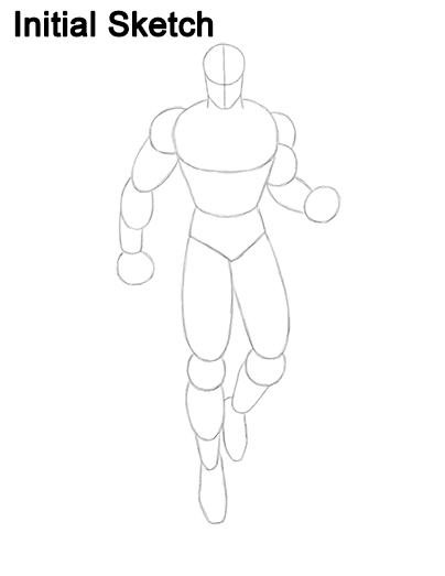 Draw Superman Full Body Sketch