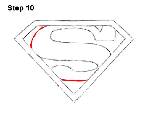 How to Draw the Superman Logo Symbol Icon Emblem 10