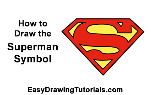 How to Draw the Superman Logo Symbol Icon Emblem