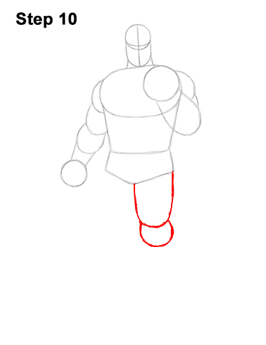 How to Draw Thanos Marvel Avengers Full Body 10