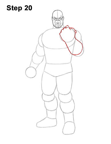 How to Draw Thanos Marvel Avengers Full Body 20