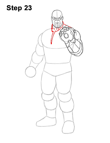 How to Draw Thanos Marvel Avengers Full Body 23