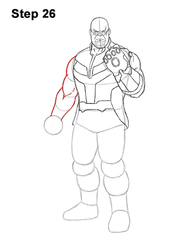 How to Draw Thanos Marvel Avengers Full Body 26