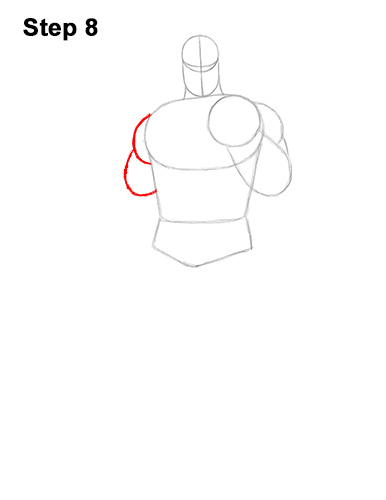 How to Draw Thanos Marvel Avengers Full Body 8