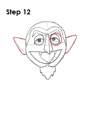 How to Draw The Count Step 12