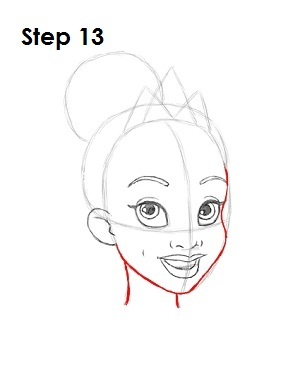 How to Draw Tiana Step 13