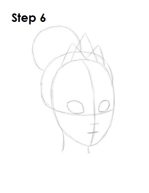 How to Draw Tiana Step 6