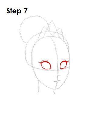 How to Draw Tiana Step 7