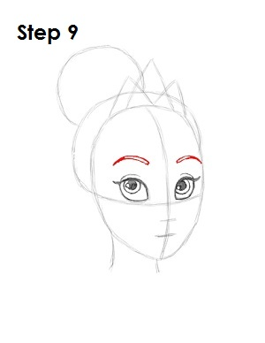 How to Draw Tiana Step 9