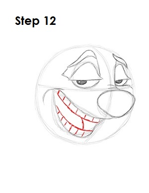 How to Draw Timon Step 12