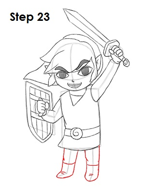 Draw Toon Link 23