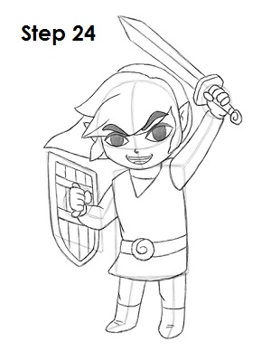 Draw Toon Link 24