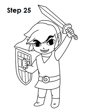 Draw Toon Link 25