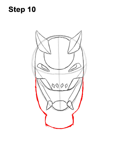 How to Draw Fortnite Vendetta Skin Mask Max 10