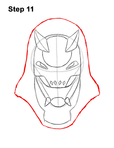 How to Draw Fortnite Vendetta Skin Mask Max 11