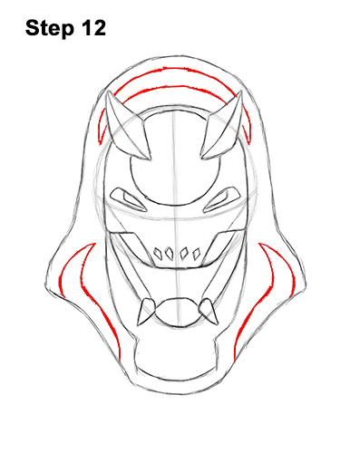 How to Draw Fortnite Vendetta Skin Mask Max 12