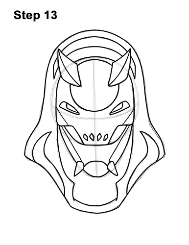 How to Draw Fortnite Vendetta Skin Mask Max 13