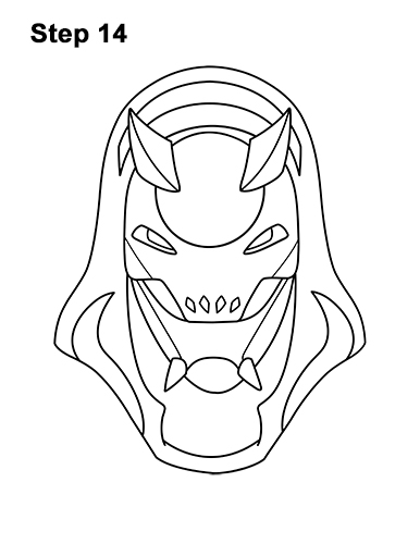 How to Draw Fortnite Vendetta Skin Mask Max 14