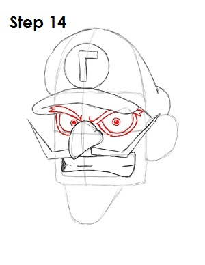 Draw Waluigi Step 14