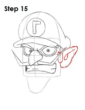 Draw Waluigi Step 15