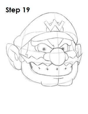 Draw Wario Step 19 title=