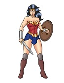 How to Draw Wonder Woman Full Body