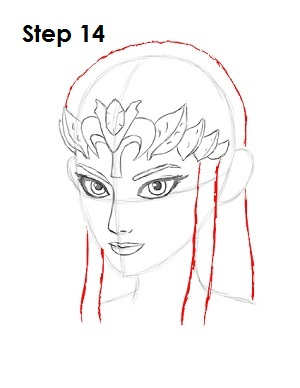 How to Draw Zelda Step 14