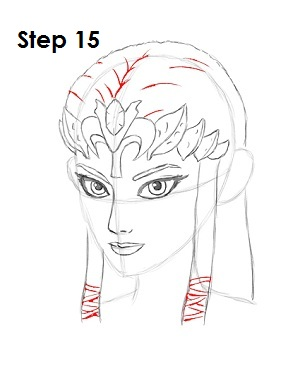How to Draw Zelda Step 15