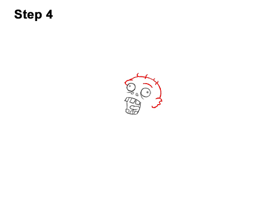 How to Draw Cartoon Zombie Coming out of the Ground 4