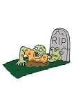 How to Draw Cartoon Zombie coming out of Grave Tombstone