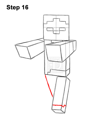 Free Minecraft Zombie Coloring Page, Download Free Clip Art, Free ... | 500x386