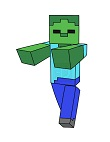 How to Draw Minecraft Zombie Walking